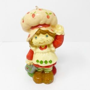 Vintage Strawberry Shortcake Candle 1980s